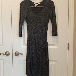 Max Studio Sweater Dress Black Heather Small